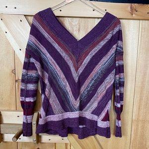 free people | chevron v neck sweater